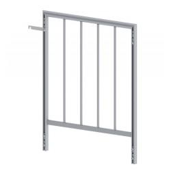 SBA 17 - heavy duty aluminium handrail 1m